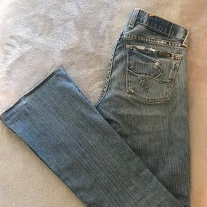 Lucky Brand Jeans with floral pocket detailing